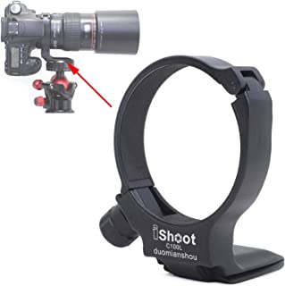 Tripod Mount Ring, iShoot Lens Collar Support Compatible with Canon EF 100mm f/2.8L Macro IS USM Lens (Replace Canon Tripo...