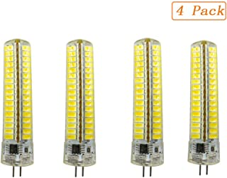 EBD Lighting G4 LED Bulbs (4 Pack) Bi-Pin Base 4W 110V Dimmable 6000K Cool White Silicone Coated Shatterproof Dustproof 40W Halogen Bulb Equivalent 360° Beam Angle