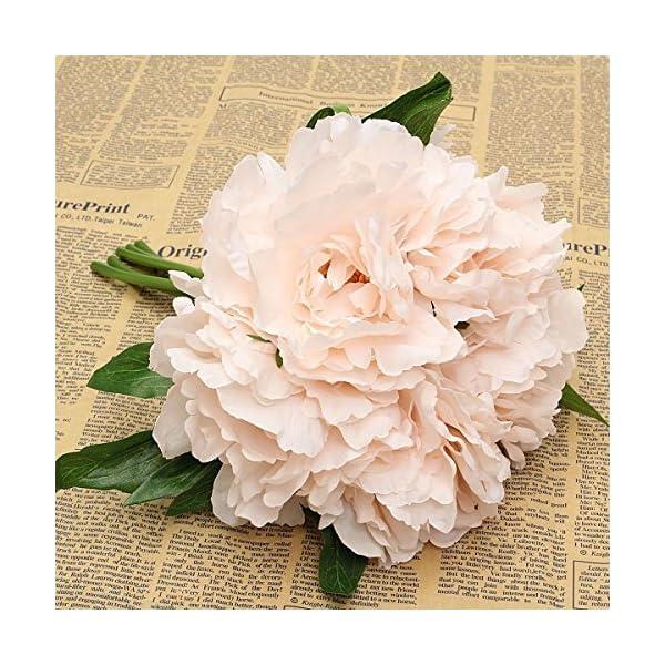 Bouquet (5PCS) Artificial Fake Silk Peony Bridal Hydrangea Flower Home Wedding