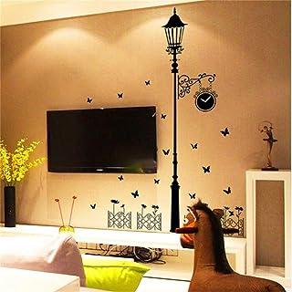 RTLJN Wall stickersPersonalidad Nueva lámpara de Calle pegatinas de pared Sala de Estar dormitorio TV Fondo