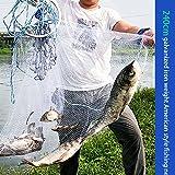 Red de Pesca de Tiro de Mano, Red de Pesca Monofilamento de Nylon, Malla Pequeña de 0.5 Dedos, Cuerda de 12 M, Agrava la Red, Durable, Estilo Americano