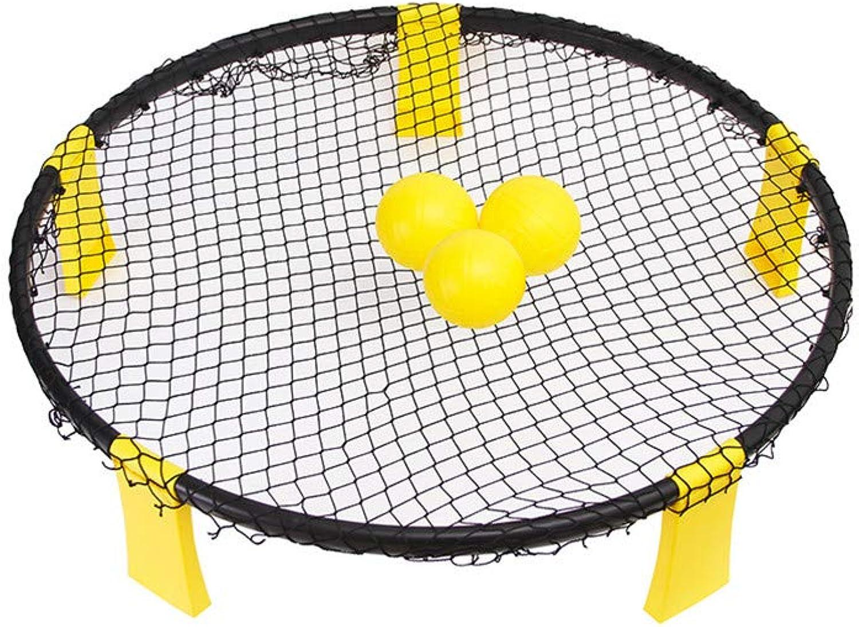 J.SPG Beach-Volleyball PVC-Beach-Smash Outdoor-Volleyball Aufblasbarer Spike-Ball Inklusive Standard-Set und Tragetasche