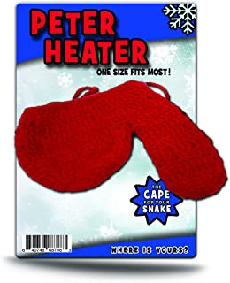 GearsOut Peter Heater Knit Wiener Warmer Weird Gags for Men White Elephant Idea Red Knit Novelty for Guys Dirty Santa Party Ideas Naughty Husband Silly Stocking Stuffer for Boyfriend