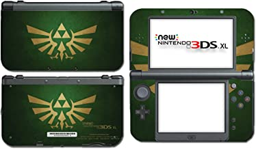 Legend of Zelda Majora's Mask 3D Special Edition Forest Green Hyrule Gold Breath of the Wild Video Game Vinyl Decal Skin Sticker Cover for the New Nintendo 3DS XL System Console