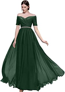 Lily Wedding Womens Off Prom Bridesmaid Dress Long Aline Evening Gown Tb32