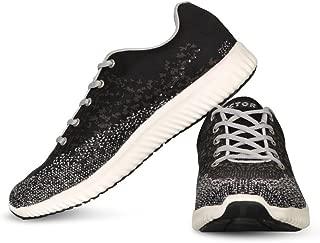Vector X RS-7030 Men's Running Shoes (Black-Grey)