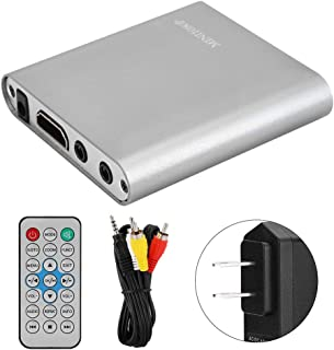 Househeld Mini Digital Media Player, Portable Full HD 1080P HDMI Digital Media Player Hard Disk Decoder with Remote Contro...