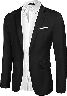 Men's Casual Blazer Jacket Slim Fit Sport Coats Lightweight One Button Suit Jacket