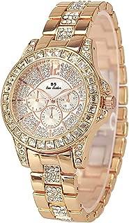 Dyshuai Women's Shining Bling Diamond Crystal Rhinestone Accented Wrist Watch