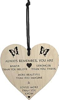 Bästa väninna födelsedagspresenter för män kvinnor vänskap personlig unik gåva träplattor tecken gåva speciellt trähjärta ...