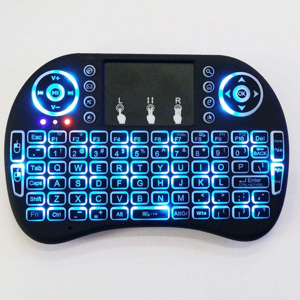 Mini 2.4G Backlit Wireless Touchpad Keyboard Air Mouse For Windows PC, Android TV Box