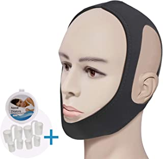 Feeke Anti Snoring Chin Strap-Effective Snoring Solution and Anti Snoring Devices - Snoring Chin Strap - Stop Snoring Sleep Aid for Men and Women [Upgraded Version] (Black)