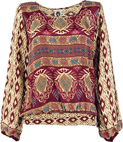 Guru-Shop, Lichte Boho-blouse, Zomerblouse, Damesblouse, Blouse met Pluimmouwen, Synthetisch, Blouses Tunieken