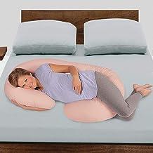 Novo 2.25kg PP Cotton comfort Pregnancy & Maternity Pillow, Peach - 145x80x25cm