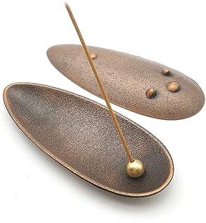 CHAYA Multipurpose Silver Stick/Vintage Bronze Stick/Cone Incense Holder, Creative Asian Style Metal Incense Burner Plate ...