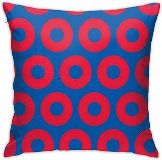 UTWJLTL Phish Circles Decorative Square Throw Pillow Covers Set Cushion Case for Sofa Bedroom Car 18 X 18 Inch 45 X 45 cm