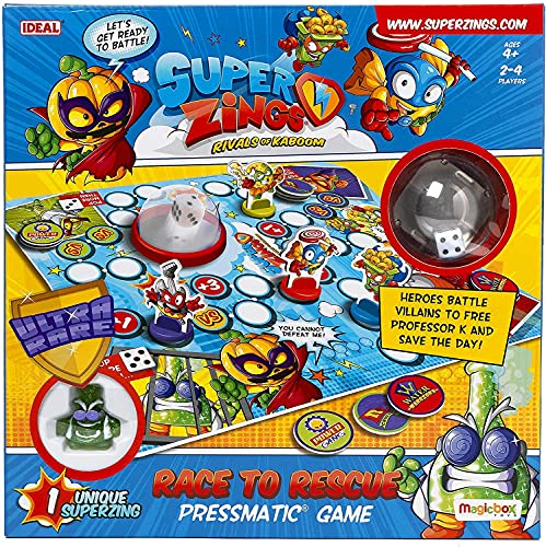 SuperZings Race to Rescue Pressmatic Game