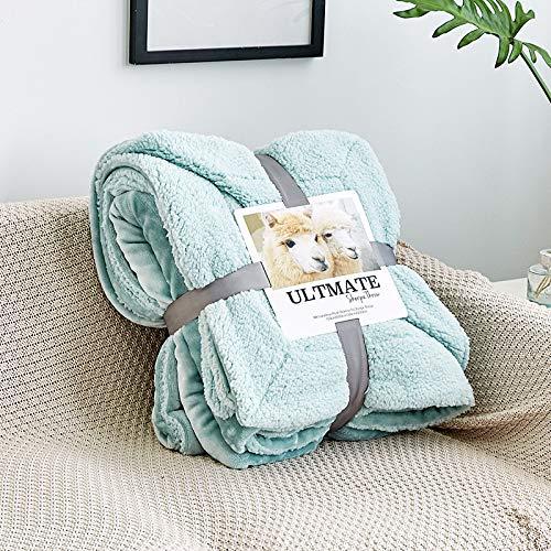 Zweischichtiges warmes Flanell, Lammwolldecke, Bürodecke, Schlafsaaldecke, durchgehende warme Decke 200 * 230THANGY