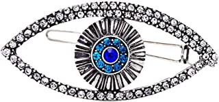 Turkey Blue Evil Eye Hair Clips Headdress Vintage Glitter Rhinestone Devil Eyes Hairpins Barrettes for Women Headwear Jewelry