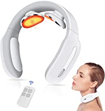 Intelligent Neck Massager with Heat Portable Pulse Smart Cordless Neck Massage 3 Modes 15 Levels Deep Tissue Trigger Point Massage Gift for Women/Men/Dad/Mom/Wife Use at Home, Outdoor, Office, Car