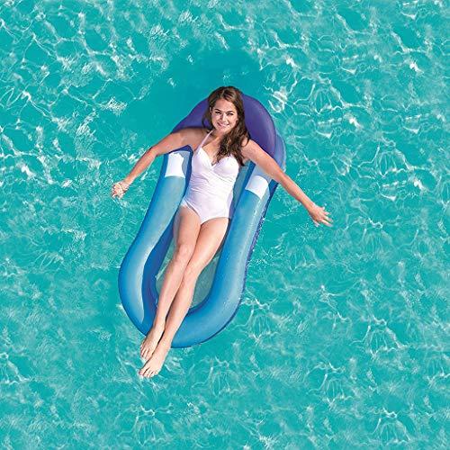 Waterhangmatlounge, Opblaasbare Zwemband Met Hoofdsteun En Voetensteun Waterhangmat Voor Vakantie, Drijvende Hangmat Voor Zwembad
