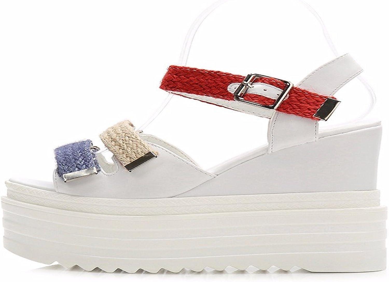 HBDLH-Damenschuhe 13Cm Super-High Heels Sandaletten Sommer-Zehen Mode Glatt Dick-Schuhe Wasserdichte Damenschuhe.