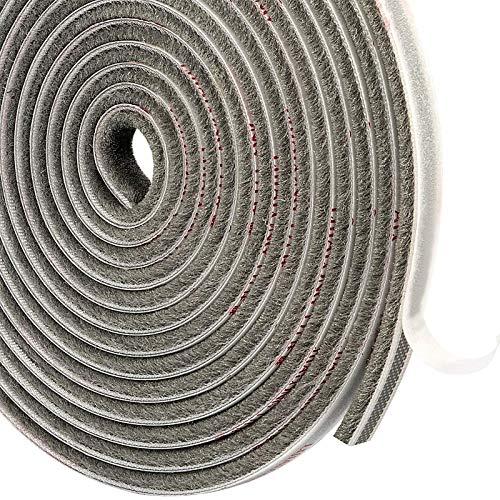 MAGZO Burlete Cepillo Aislante 9 mm x 5 mm x 4.9 m Ventanas