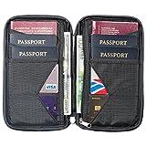 Travel Wallet & Family Passport Holder w/RFID Blocking- Document Organizer Case (Shadow)...
