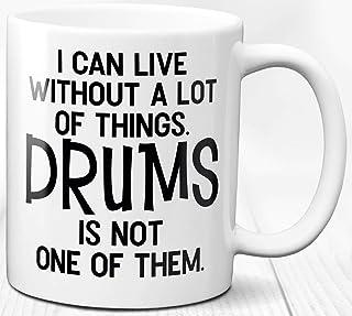 Taza de café Regalo Baterista 330 ml Amore batteria Drummer Life Quote Taza de cerámica