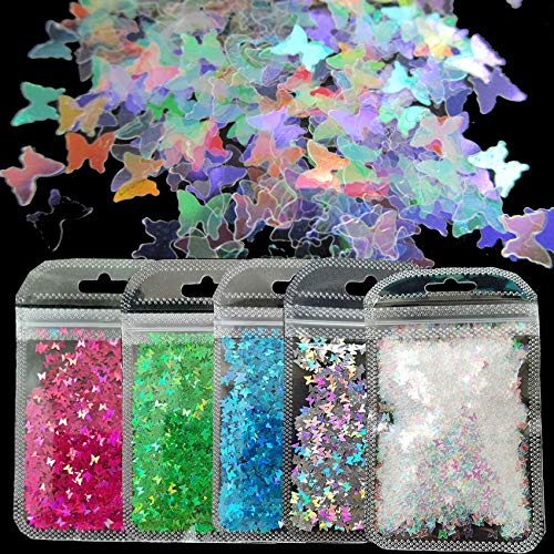Chunky Butterfly Glitter Flakes Hol…