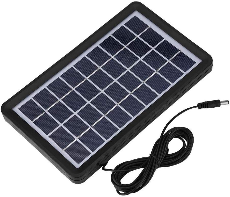 Queen.Y Placa Solar 9V 3W Impermeable 93% Transmitancia de Luz Célula Solar de Silicio Polivinílico Panel Solar Monocristalino de 9 Voltios