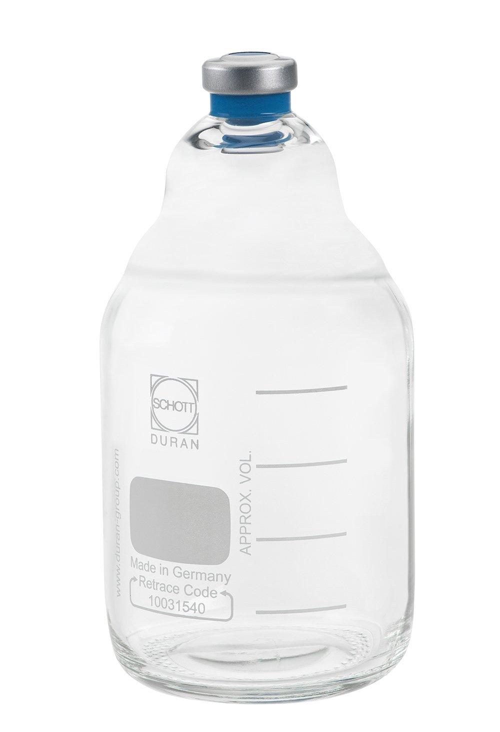 Chemglass CLS-4217-02 Borosilicate Glass trust Media Max 47% OFF B Anaerobic Clear