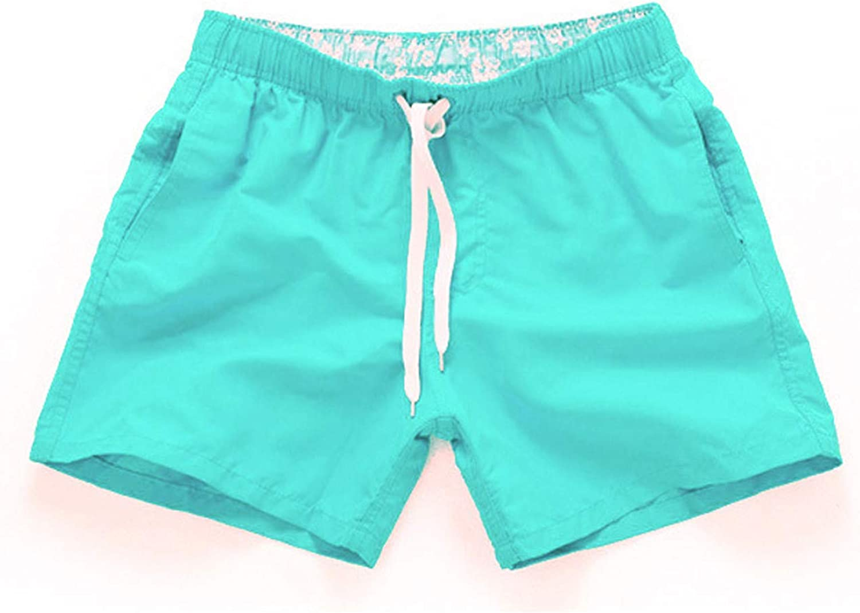 Men's Plus Size Quick Dry Beach Plain Three Quarter Loose Swiming Workout Shorts