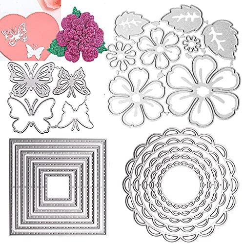 Nuyoah Troqueles Scrapbooking Troqueles Flores Troqueladora Mariposa 4 Formas Troqueles de Corte de Metal para DIY Manualidades �lbumes de Recortes Decoración Artística y Creación de Tarjetas (A)