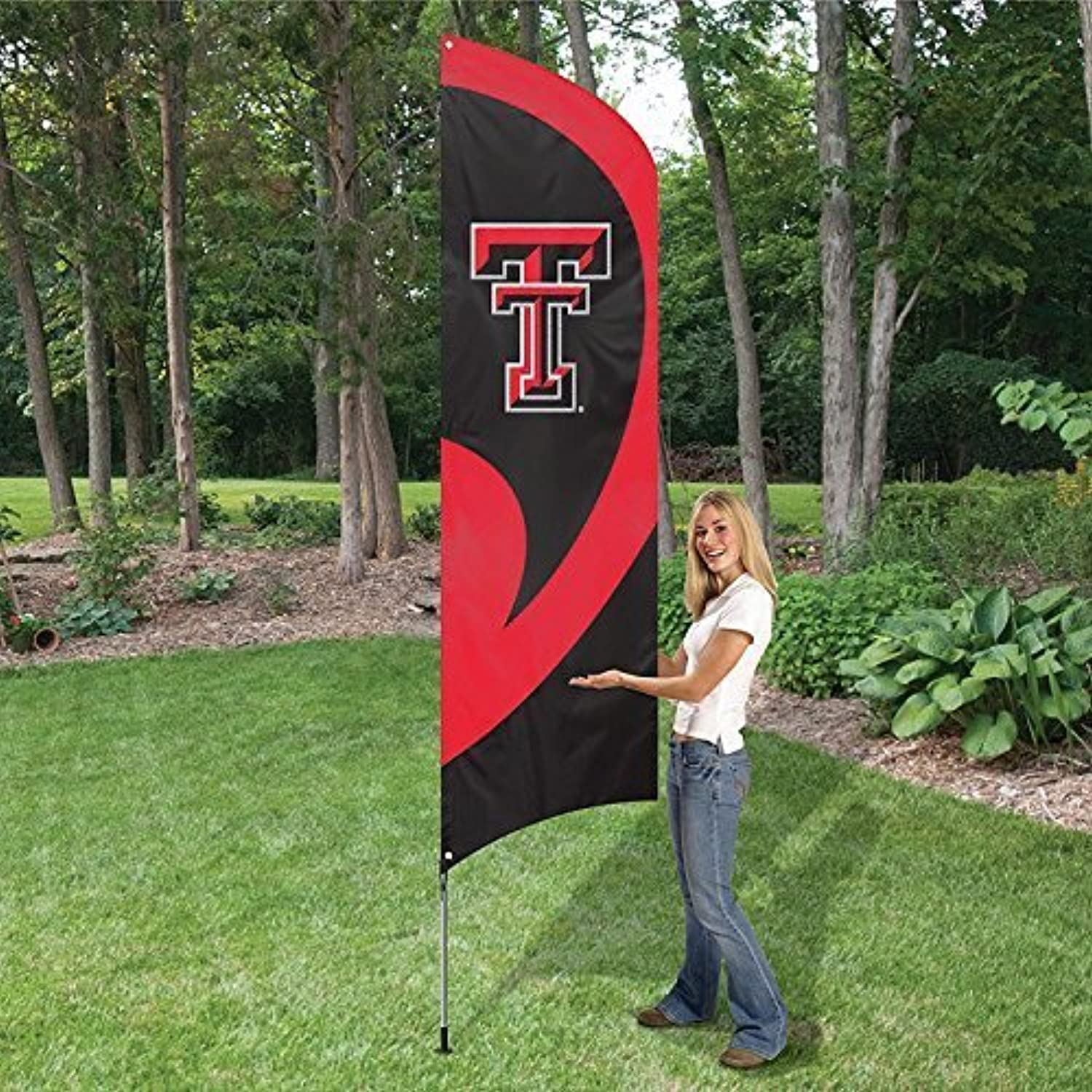 Texas Tech Red Raiders NCAA Applique & Embroidered Tall Team Flag (102x30 )  by Party Animal