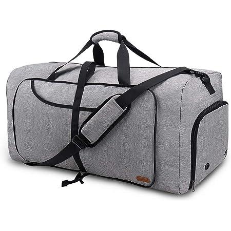 Vogshow Reisetasche 80L große Faltbare, Weekender Übernachtungstasche Seesack wasserdicht Sporttasche mit Schuhfach für Männer und Frauen
