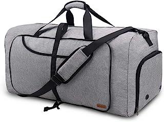 Vogshow Reisetasche 80L große Faltbare, Weekender Übernachtungstasche Seesack wasserdicht Sporttasche mit Schuhfach für Mä...