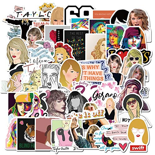 PMSMT 10/30/50 Uds Taylor Alison Swift Pegatinas Impermeable PVC Equipaje monopatín Guitarra papelería Graffiti Cantante Pegatina Juguetes para niños