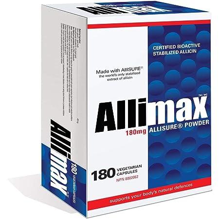 Amazon.com: Allimax 180mg 90 Capsules. Allicin Garlic Supplement ...