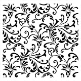 Floral Swirl All Over Pattern Stencil - 10 mil
