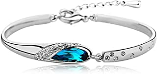 Yellow Chimes Blue Crystal Designer Collection Bracelets for Women and Girls