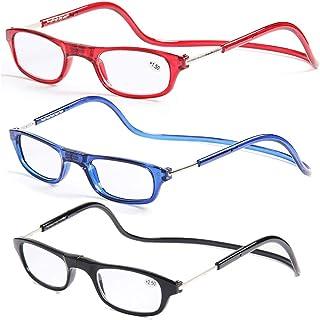 8a2e5e7f03 Gafas de lectura con imán de Cuello Colgante, antifatiga portátil  Ultraligera, HD de Resina
