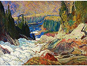 Jeh Macdonald Falls Montreal River Art Print Canvas Premium Wall Decor Poster Mural