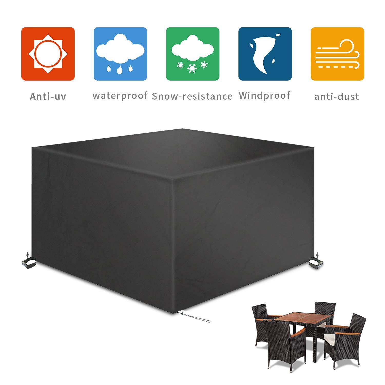 TAOCOCO Funda para Muebles de Jardín Impermeable, protección contra el Polvo y los Rayos UV, Cubierta