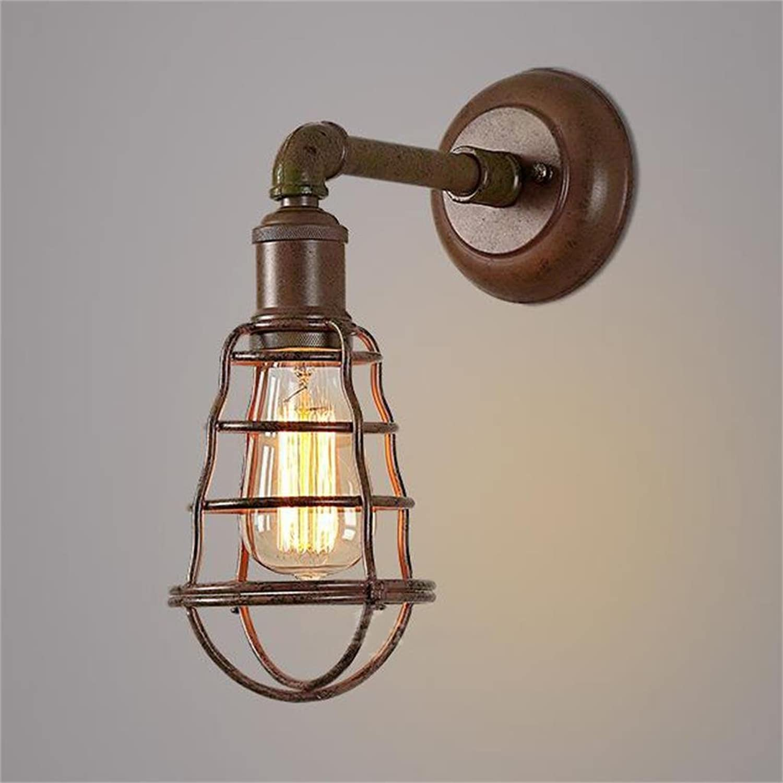 Kreative Light-Industrial Eisenstange Wandleuchte American Retro Lampe