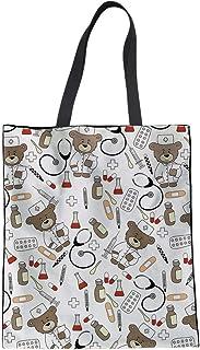 LIMING Teenager Girls School Handbag Cute Nurse Bear Pattern Lightweight Outdoor Sports Traveling Purse Women Ladies Shoul...