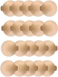 lqgpsx 20 pièces Planches à gâteaux Rondes Papier doré Cupcake Dessert Affiche Plateau Pizza Cercles Base Mariage gâteau d...