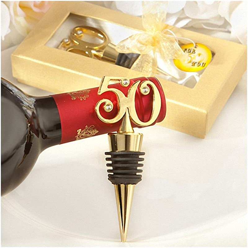 FavorOnline Golden 50 Wine Bottle Stoppers 36