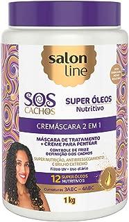 Salon Line Creme Hidratação Cremascara 2 em 1 SOS Nutritivo, Branco
