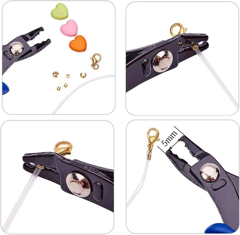 Kfdzsw Jeu de Pinces Bague Multifonction de Split Opener Pinces Bijoux Perles Pince /à sertir Pince /à sertir Outil avec Mini Diagonale Pinces Bricolage Outils Color : Crimping Pliers